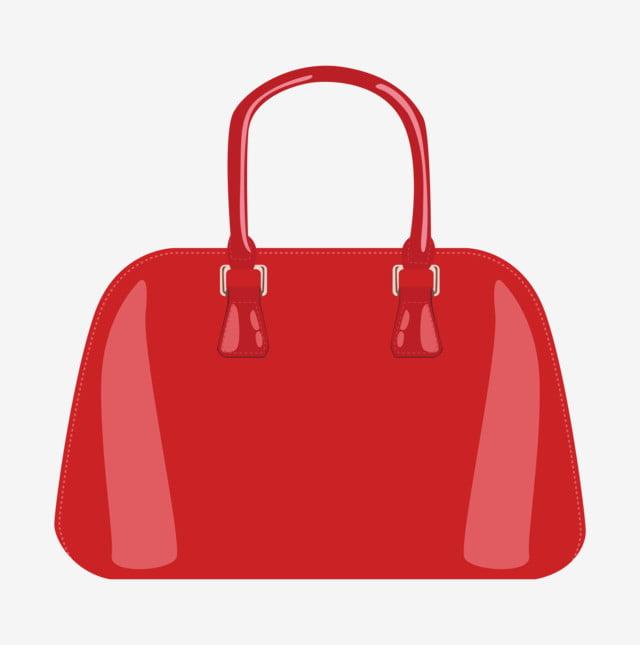 2bd9958f6 Bolsa vermelha Bolsa bonita Ilustração dos desenhos animados Mão Grátis PNG  e Vetor