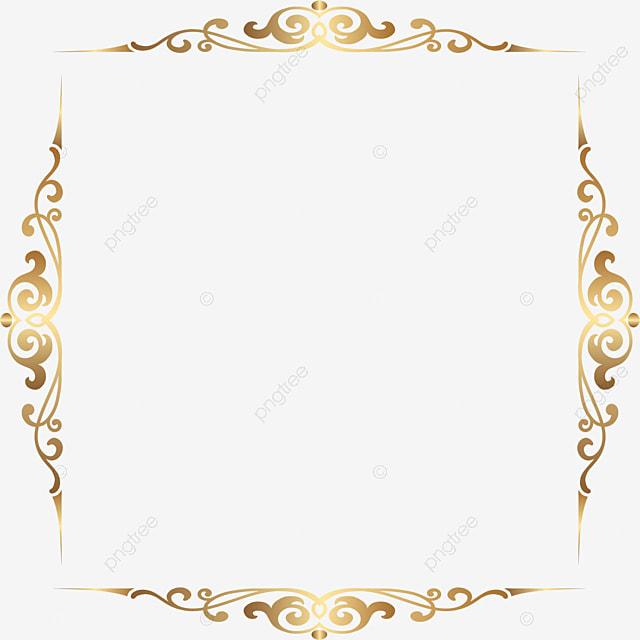 borda quadrada borda dourada borda de estilo m u00e3o desenhada
