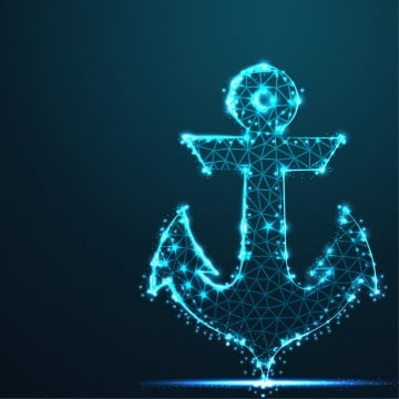 anchor  nautical  maritime  abstract 3d polygonal wireframe airplane on blue night sky with dots and stars  illustration or background, Polygonal, Abstract, Line PNG and Vector