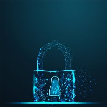cyber lock security padlock  abstract wire low poly, 3d, Abstract, Background PNG and Vector