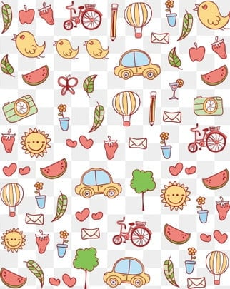 hand drawn cartoon cute travel, Line, Summer, General Purpose PNG images and vector graphics