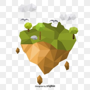 australian map low poly stereo elements, Low Poly, Cloud, Tree PNG and Vector