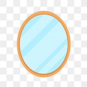 Vector Elongated Mirror Hanging Mirror White Glass Png