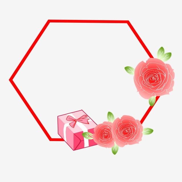 Bingkai Gaya Segar Yang Indah Yang Dilukis Dengan Tangan Bunga Gaya Segar Kartun Bunga Mawar Merah Muda Perbatasan Mawar Png Transparan Gambar Clipart Dan File Psd Untuk Unduh Gratis