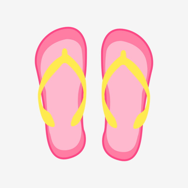86809717d1424 pink slippers hand drawn flip flops illustration pink sandals summer  slippers