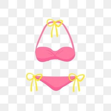 096199180f7 Bikini mujer Ilustración de bikini rosa Traje de baño de las señoras Bikini  de dibujos animados