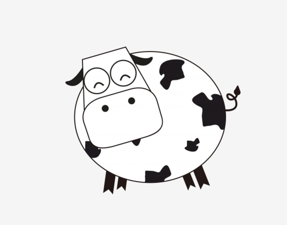 Animal Vache Blanc Tache Noire Blanc Style Simple Tachete Png Et Vecteur Pour Telechargement Gratuit