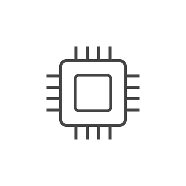 Integrated Circuit Chip Icon Graphic Design Template Vector