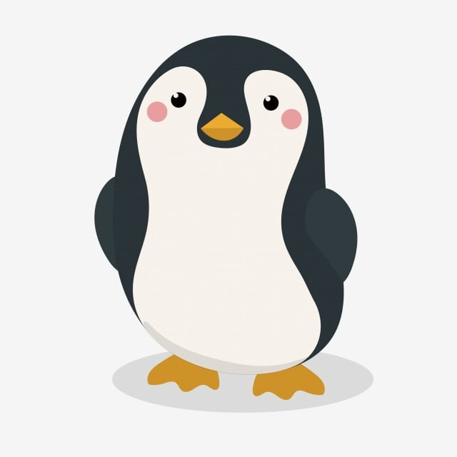 Pinguim Caricatura Bonito Dos Desenhos Animados Bonito Bonito