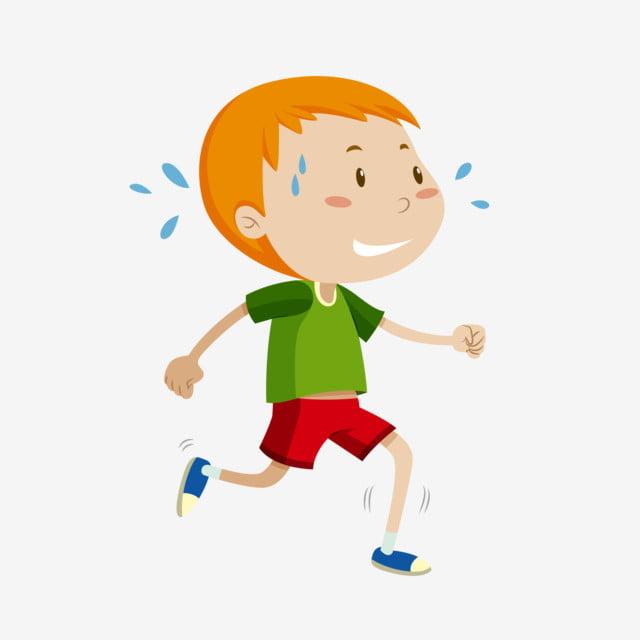 طفل يجري كرتون
