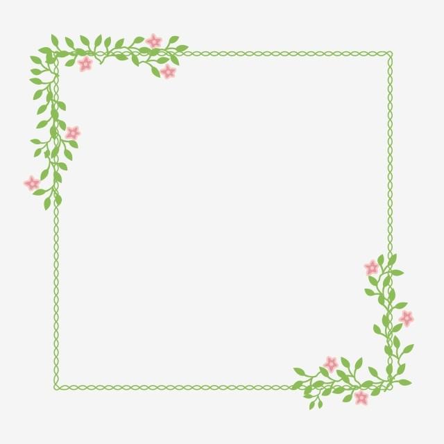 gambar bingkai bunga sederhana rumput cantik hijau png dan vektor untuk muat turun percuma gambar bingkai bunga sederhana rumput