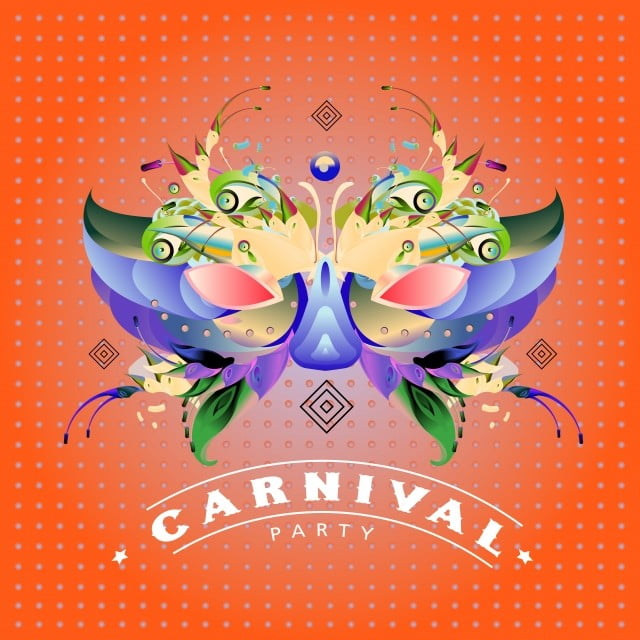 vector colorful illustration of carnival mask for mardi gras party and celebration