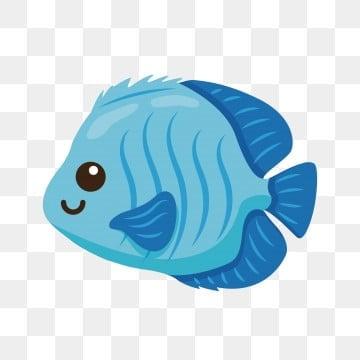 голубая красивая золотая рыбка декоративная рыба, Рыба клипарт, через, Мультфильм рыба PNG ресурс рисунок и векторное изображение