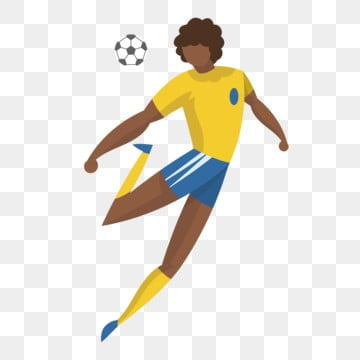 brazil football soccer player athlete, Cartoon, Cartoon Athlete, Lovely PNG and Vector
