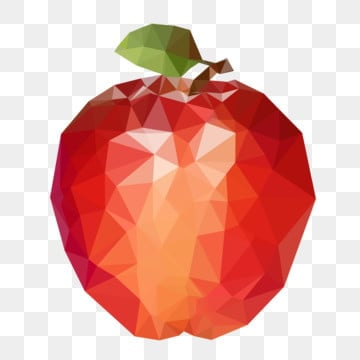 fruit red apple lowpoly style, Low Polygon Style, Polygon, Cartoon PNG and Vector