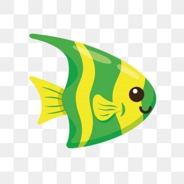 зеленый золотая рыбка Декоративная рыба через, Рыба клипарт, Мультфильм рыба, прекрасный PNG ресурс рисунок и векторное изображение