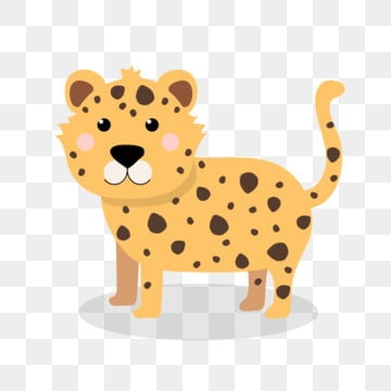 leopard cartoon cute cartoon lovely, Cute Cartoon, Lovely, Cartoon PNG and Vector