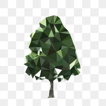low polygon low poly style poster design plant, Trees, Green, Protect Environment PNG and Vector