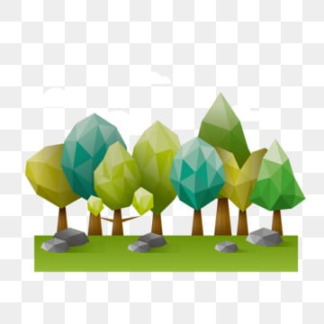 lowpoly style low polygon style lowpoly forest green lowpoly forest, Green Low Polygon Forest, Green Forest, Lowpoly Style PNG and Vector