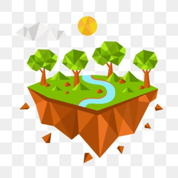 lowpoly style low polygon style lowpoly forest green lowpoly forest, Green Low Polygon Forest, Blue Lake Water, Lowpoly Style PNG and Vector