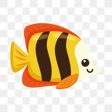красивый золотая рыбка Декоративная рыба через, Рыба клипарт, Мультфильм рыба, прекрасный PNG ресурс рисунок и векторное изображение