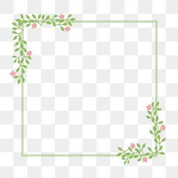 Simple Flower Frame PNG Images | Vector and PSD Files | Free