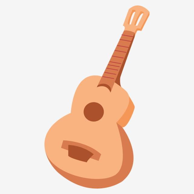 Dibujos Animados Instrumento Musical Guitarra Guitarra Acustica