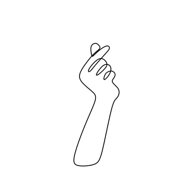Gambar Berterusan Garis Lukisan Simbol Cinta Dengan Tangan Di Korea Popular Budaya Gaya Konsep Vektor Ilustrasi Seni Asia Latar Belakang Png Dan Vektor Untuk Muat Turun Percuma