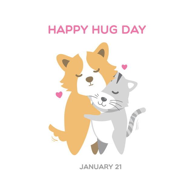 chiens et chats mignons corgi illustrant câlin jour contexte vecteur  Gratuit PNG et Vecteur