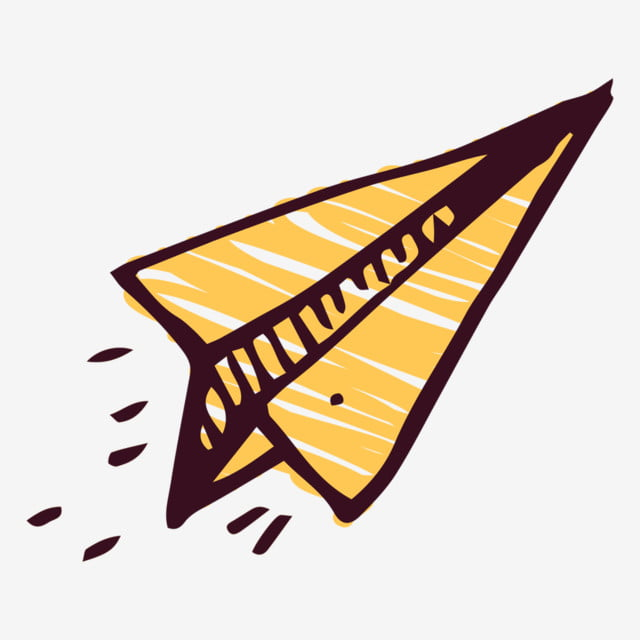 Paper Plane Aircraft Airplane Icon Paper Airplane Icon Cartoon Cartoon Paper Plane Hand Painted Png And Vector With Transparent Background For Free Download