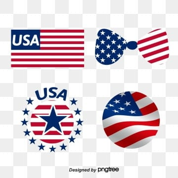 Creative Design of American Flag Butterfly Bow Logo, Usa, Originality, Country PNG and Vector