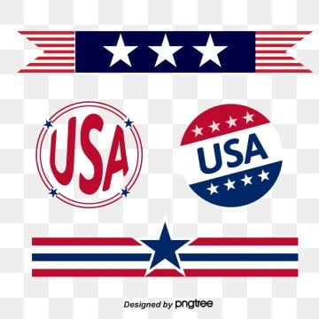 creative design of american flag trademark strip stars, Usa, Originality, Trademark PNG and Vector