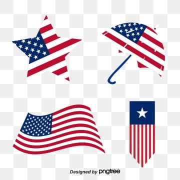 creative design of star umbrella flag, Usa, Originality, Country PNG and Vector