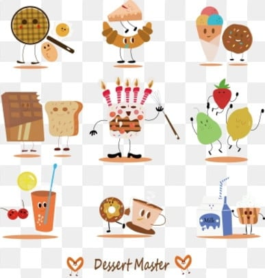 Cartoon Sweet Without Drawing Pictures Cartoon Clipart Catering