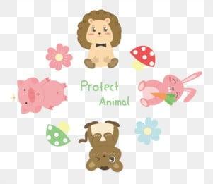 世界動物日 保護動物 protect animal, Protect, 抱著胡蘿蔔兔子, 獅子 PNG圖片素材和向量圖