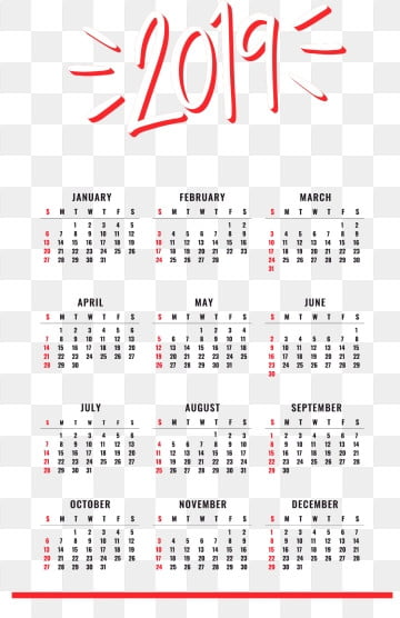 2019 Calendar Png Vector Psd And Clipart With Transparent