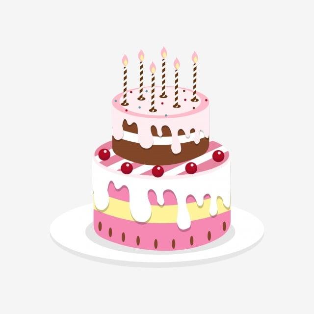 Cartoon Birthday Cake Cake Cupcake Hand Painted Birthday Cake Cake