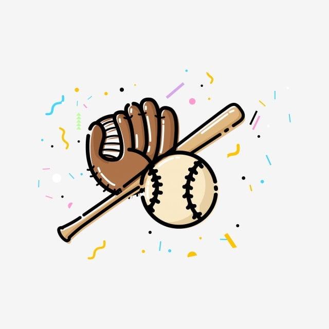 dibujos animados dibujado a mano beisbol jugando beisbol dibujos los deportes guante de beisbol