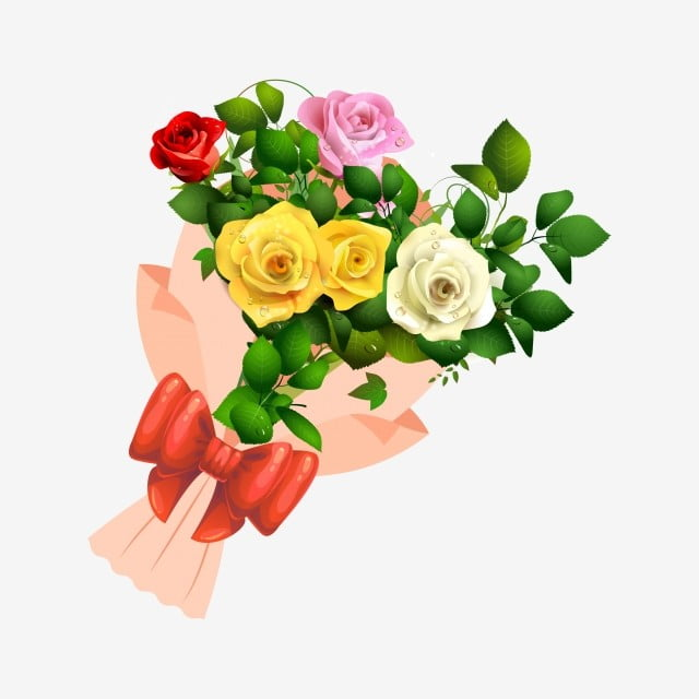 Rose Cartoon Flowers Flowers Bouquet Vase Bouquet Petal Potted Plant Png And Vector With Transparent Background For Free Download