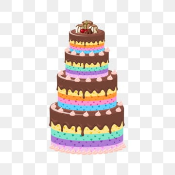 Cartoon Birthday Cake PNG Images