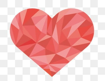 low poly love pink, Love, Geometric Fill, Low Mode PNG and Vector