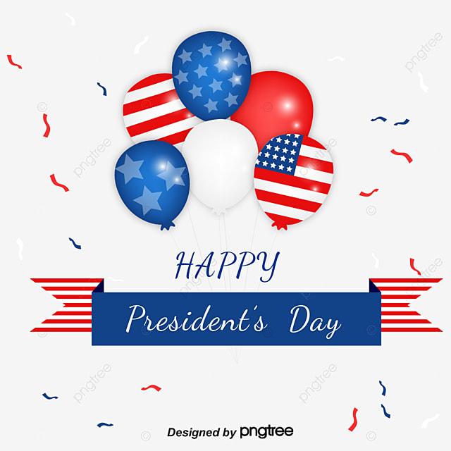 balloon ribbon banner element design for us presidents day