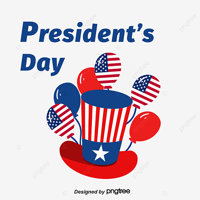 design of balloon elements for us presidents day hat