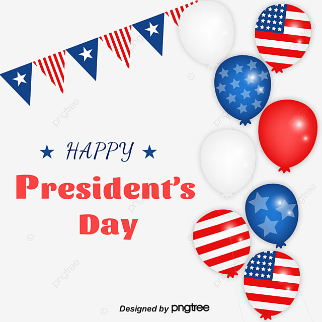 design of creative elements for us presidents day