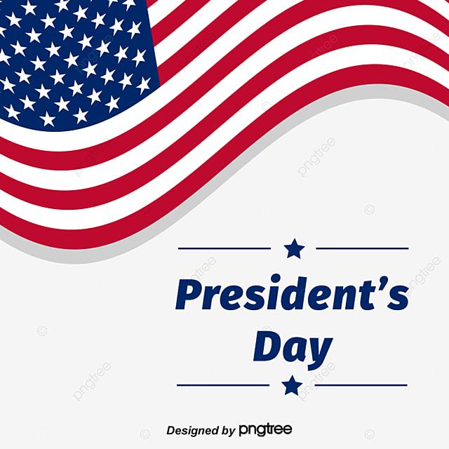 elemental design of us presidents day flying national flag