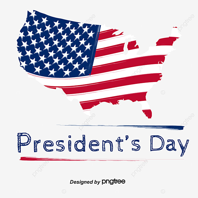 mao bian american map element design for us presidents day