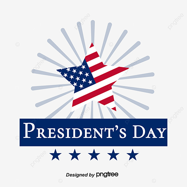 the element design of american presidential day with starlight