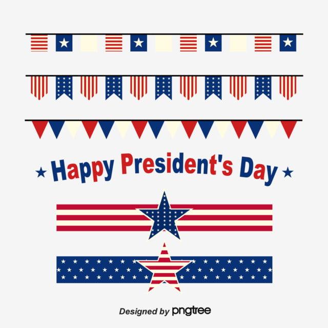 flattened vector illustration elements of american presidents japanese flag celebration flag