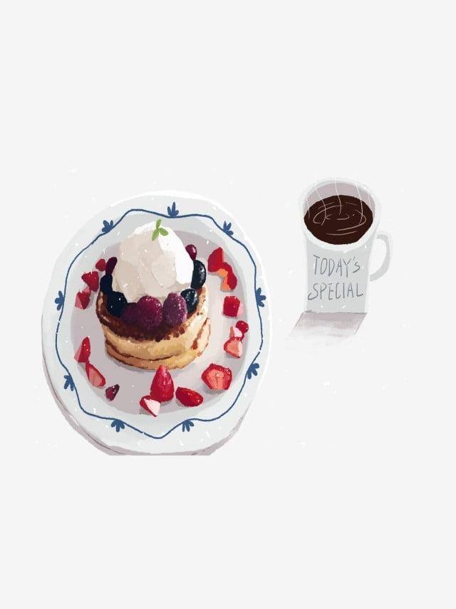 Delicious Strawberry Cake Coffee Breakfast Pattern Snack,strawberry ...