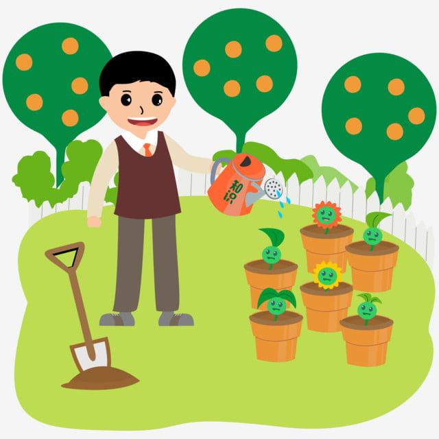 jardinero maestro dibujos animados figura elemento comercial profesor jardinero imagen de